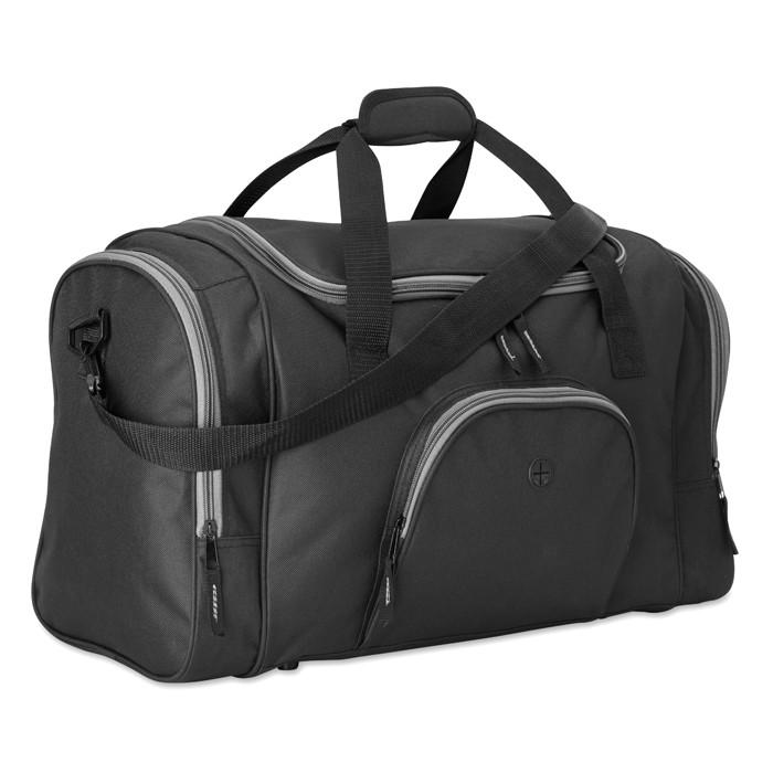 9b78cc440 Bolsa de Deporte o Viaje Personalizada Color Negro Lateral