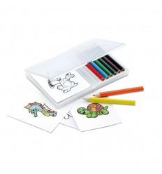Set de Lápices de Colores con Figuras para Colorear Publicidad
