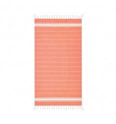 Toalla de Playa Hamman de Algodón para Publicidad Color Naranja