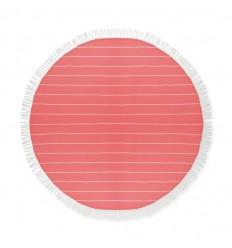 Toalla de Playa Redonda de Algodón para Merchandising Color Rojo
