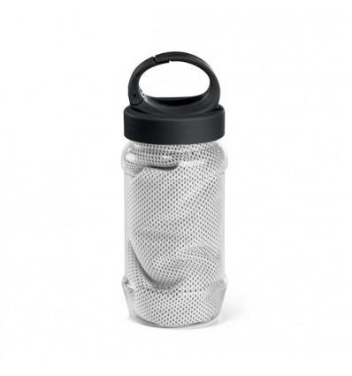 Botella con Gancho y Toalla Publicitaria Color Blanco