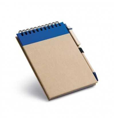 Bloc de Notas con Bolígrafo para Merchandising Color Azul