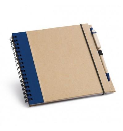 Bloc de Notas de Cartón con Bolígrafo Publicitario Color Azul
