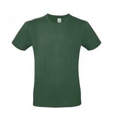 Camiseta de Color Ajustada de Algodón Promocional Color Verde Botella Oscuro