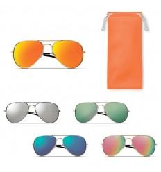Gafas de Sol con Efecto Espejo de Color con Funda para Publicidad