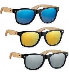 Gafas de Sol Vintage con Patillas de Bambú para Publicidad