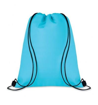 Bolsa Nevera con Cordones de Poliéster Promocional Color Turquesa