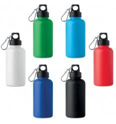 Botella de agua con mosquetón para campañas promocionales