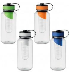 Botella de tritan con compartimento para fruta para merchandising