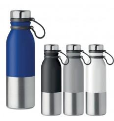 Botella anti goteo con correa de silicona para campañas personalizadas