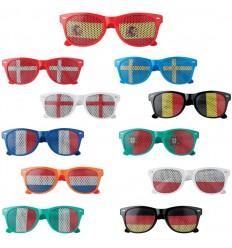 Gafas con banderas de varios colores para publicidad