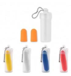 Tapones para los oídos con estuche de plástico para publicidad