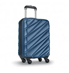 Maleta trolley con tapa dura anti ralladuras para merchandising Color Azul