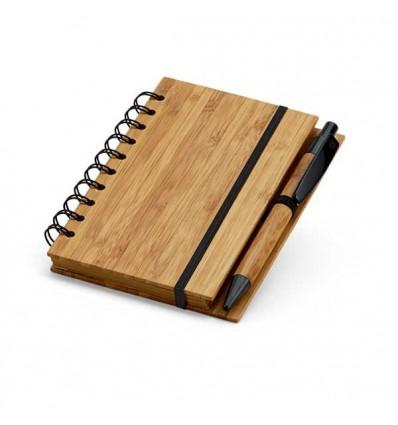 Bloc de Notas de Bambú Mini para Logo de Empresa Color Natural