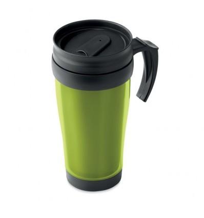 Taza de Viaje Térmica con Tapa para Publicidad Color Verde Lima