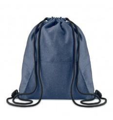 Mochila saco en fibra polar con bolsillo personalizada Color Azul