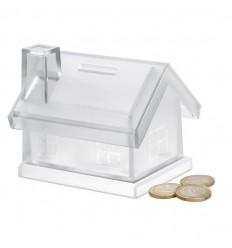 Hucha en Forma de Casa de Plástico personalizada
