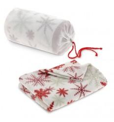 Manta polar con funda de non-woven para regalo de empresa