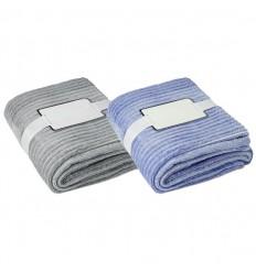 Manta de franela de rayas de hilo teñido para merchandising