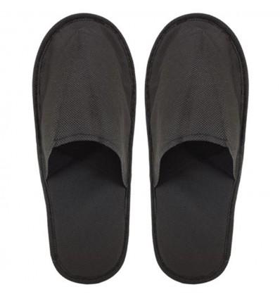 Zapatillas de Hotel Personalizadas de Publicidad Color Negro