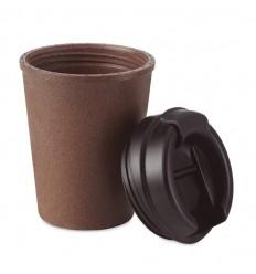 Vaso doble pared de cáscara de café con tapa y boquilla publicitario