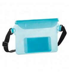 Funda impermeable para teléfono de PVC personalizada Color Azul Transparente