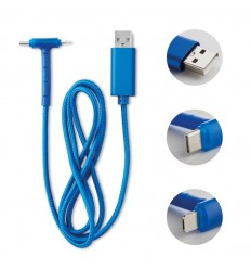 Cable de carga con función de soporte publicitario