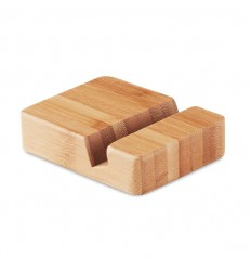 Soporte de bambú para teléfono personalizado Color Madera