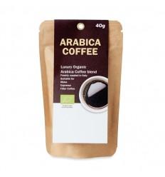 Café orgánico arábica en polvo 40 gr personalizado Color Beige