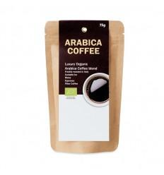 Café ecológico arábica en polvo 75 gr personalizado Color Beige