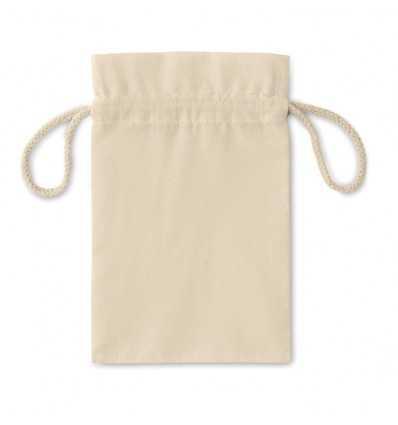Bolsa pequeña de algodón beig para regalos personalizada Color Beige