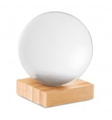 Bola de cristal para fotografía con base de bambú publicitaria
