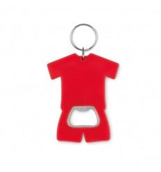 Llavero abridor con forma de camiseta publicitario Color Rojo