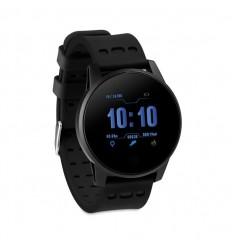 Reloj de actividad bluetooth con pulsera de silicona publicitario Color Negro