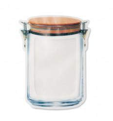 Bolsa grande para alimentos antifugas sin BPA publicitaria Color Transparente