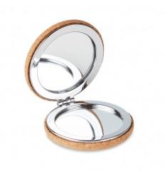Espejo circular doble de corcho publicitario