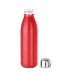 Botella de cristal con tapón de acero inoxidable 650 ml publicitaria