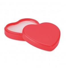 Bálsamo labial con caja en forma de corazón publicitario