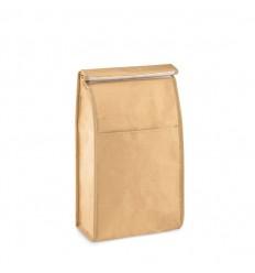 Porta bocadillos de papel woven con bolsillo publicitaria
