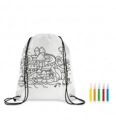 Mochila saco de non-woven para colorear publicitaria