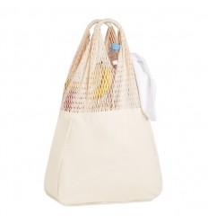 Bolsa de playa de algodón con asas largas publicitaria
