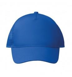 Gorra de 5 paneles de poliéster con cierre de plástico publicitaria