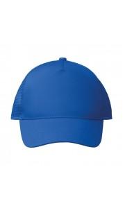 Gorra de 5 paneles de poliéster con cierre de plástico