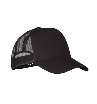 Gorra de 5 paneles de poliéster con cierre de plástico personalizada Color Negro