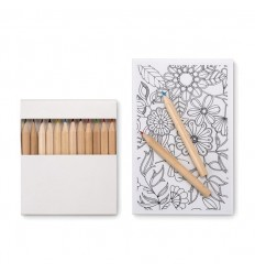 Set de dibujo y lapices para colorear personalizado Color Blanco