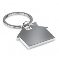 Llavero en forma de casa Inox promocional Color Blanco