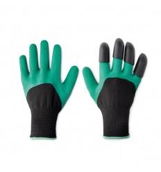 Set de guantes de jardín para cavar publicitario Color Verde