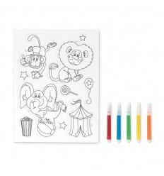 Adhesivos imantados para colorear publicitarios