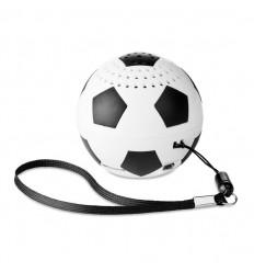 Altavoz con forma de balón de futbol publicitario