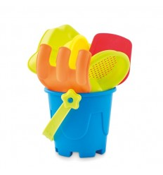 Cubo de playa con accesorios para niños publicitario Color Multicolor